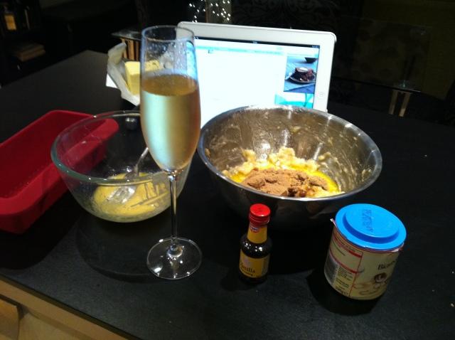 Baking + bubbles = domestic bliss!